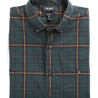 Button-down Collar Shirt in Green Tartan