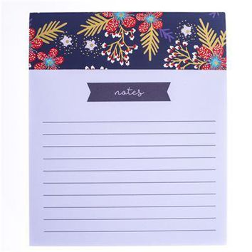Red and Navy Floral Jotter