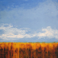 "Contemporary Landscape Painting  - ""A Sunny Day"" - 30"" x 40"" - SOLD"