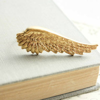 Unique Ring, Golden Fairy Wing, Nature Inspired, Adjustable Ring, Gold Brass