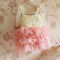 Rosette Sparkle Tutu Dress. Baby Toddler Girls ...