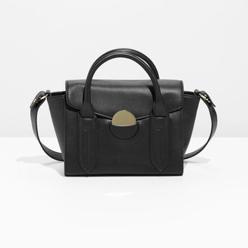 Circle Detail Leather Bag - Black - Shoulderbags - & Other Stories US