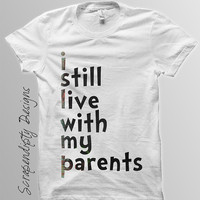 Live With Parents Iron on Transfer - Baby Iron on Printable / Cute Kid Clothes / Baby Shower / Toddler Boys Shirt / Kids Girl Clothing IT164