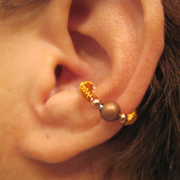 "No Piercing ""Twisted Tribe "" Ear Cuff Handmade 1 Cuff"