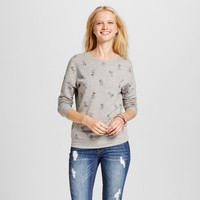 Women's Disney Mickey Mouse All Over Graphic Sweatshirt (Juniors') - Gray