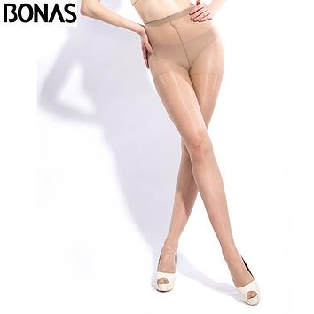Hosiery Seamless Tights Transparent Black Resistant Pantyhose Fashion Solid Color Polyester Plus Size