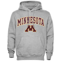 Minnesota Golden Gophers Arch Over Logo Hoodie – Gray