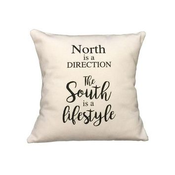 North Is A Direction Pillow | Palmetto Moon