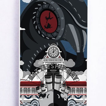 iPhone 5S Case - Hard (PC) Cover with Bioshock Infinite Poster Plastic Case Design