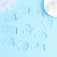 1PC Transparent Polygon Silicone Gel Makeup Cosmetic Powder Puff Foundation BB Cream Face Cleaning Accessories Tool