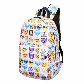 Lovely Cute 3D Smiley Backpack Women Emoji Face Printing Nylon Backpack Casual Female Backpack School Bags for Teenage Girls