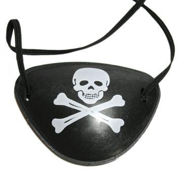 Halloween Cosplay Props Party One Eyed Eye Mask Masquerade Pirates Caribbean Eye Patch Halloween Party Decoration Supplies 2018