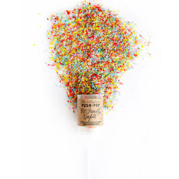 Eco-Friendly Push-Pop Confetti
