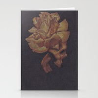 Skull Bloom Stationery Cards by drawingsbylam