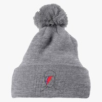 David Bowie Embroidered Knit Pom Cap