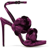 Marco De Vincenzo - Braided velvet sandals
