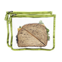 Blue Avocado (Re) Lunch Bag - Kiwi - 2 Pack