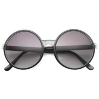 Throw Back Retro Super Round Oversize Sunglasses A003
