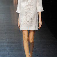 Dolce & Gabbana | Embroidered silk-blend organza mini dress | NET-A-PORTER.COM