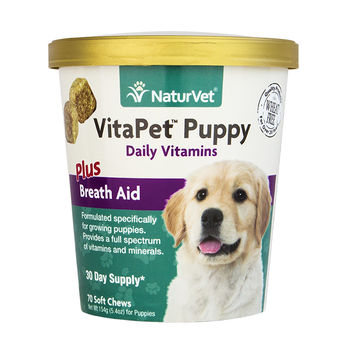 NaturVet VitaPet Daily Vitamins Puppy Soft Chews 70ct