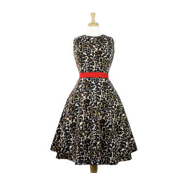 Audrey Leopard Full Circle Holiday Dress