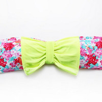 Cute Bow Bandeau Bikini Top Floral Bathing Swim Wear