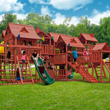 Playnation Pangea Wooden Swing Set