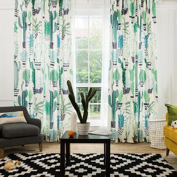 Drapes with Cacti Party