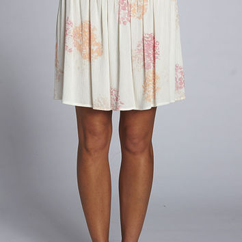 Flore Smocked Waist Skirt - Coral