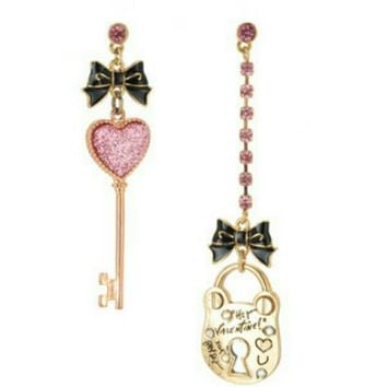 Betsey's Valentine's day heart collection earrings
