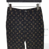 LV Louis Vuitton New fashion monogram print couple corduroy pants