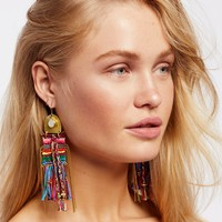 Free People Oaxaca Hand Woven Earrings
