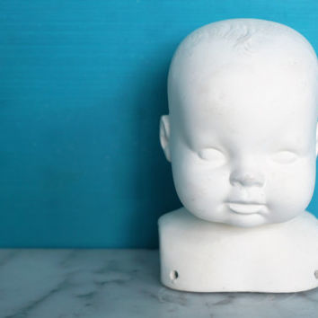 Sweet Vintage Porcelain Baby Doll Head