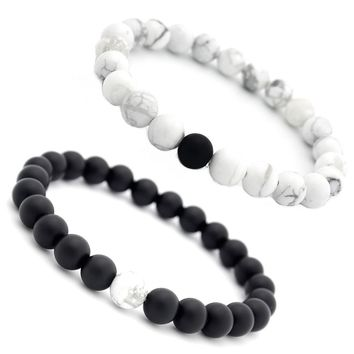 2018 Trendy Natural Stone Bracelets Round Charms Yoga Meditation Braclet For Men Women Lovers Best Friend Jewelry Gift