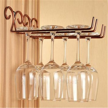 Useful Fashion Bar Red Wine  Glass Hanger Holder Hanging Rack Shelf hold up to 6 wine glasses