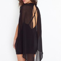 Rush Cape Dress - NASTY GAL