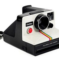 Polaroid OneStep SX-70 White/Rainbow Camera with Strap ***