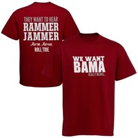 Alabama Crimson Tide We Want Bama T-Shirt - Crimson