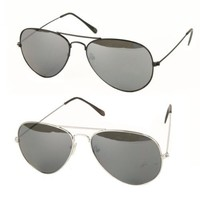UB Classic Aviator Sunglasses with Reflective Lenses