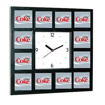 Diet Coke Coca Cola around the Clock with 12 pictures