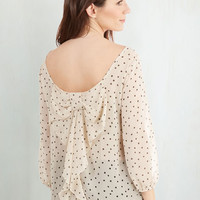 Mid-length 3 Flash Fete Top in Dots