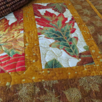 Quilted Fall Placemats, Autumn Leaves Gold 494