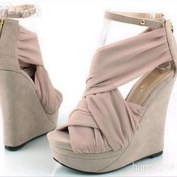 iOffer: Wedge heel ankle sandals women's open toe platform shoe for sale