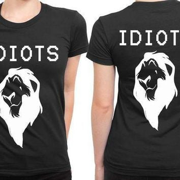 The Lion King Idiot You 2 Sided Womens T Shirt