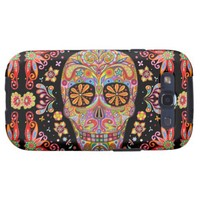 Day Dead Sugar Skull Samsung Galaxy S3 Vibe Case Galaxy S3 Covers from Zazzle.com