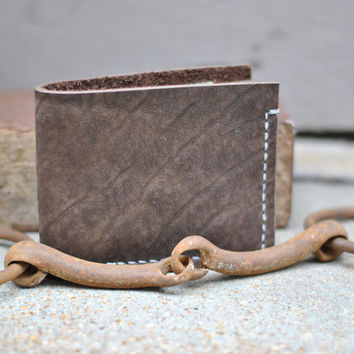 The Pitt - Mens Bifold Bison Leather Wallet