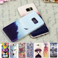 Soft TPU Pattern Back Cover Phone Case for Samsung Galaxy S7 S6 Edge S5 S4 S3 J7 J5 J3 A7 A5 A3 2016 Grand Prime G530 Note 5 4