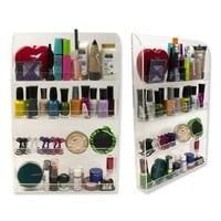 D'Eco Nail Polish Wall Rack  Acrylic Organizer and Display