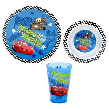 Disney Cars 3-pc. Plate Set by Jumping Beans (Blue)