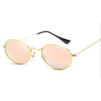 Retro Round Sunglasses Brand Unisex Sunglasses Metal Frame With Polarized Lens Hot Street Style